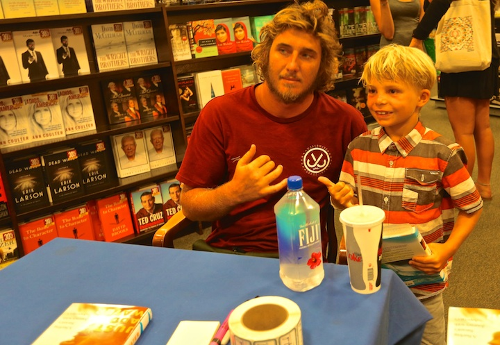 Clay Marzo at a book signing.